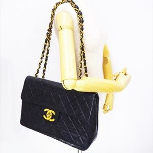 CHANEL Jumbo XL Flap Bag Maxi Shoulder Bag